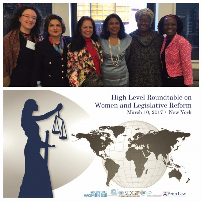Poster for the High Level Roundtable on Women &             Legislative Reform