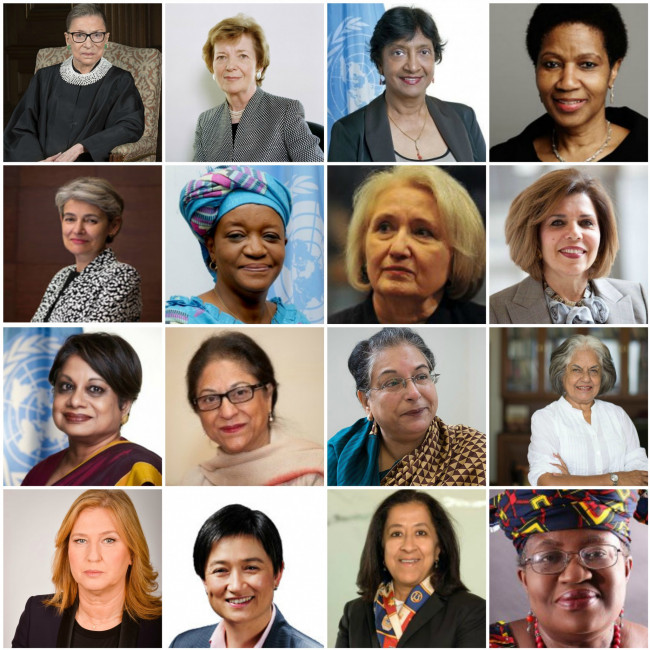 Featured Global Women Leaders: Justice Ruth Bader Ginsburg, President Mary Robinson, Navi Pillay,...