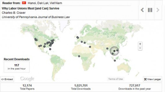 Law School Institutional Repository Hits One-Million