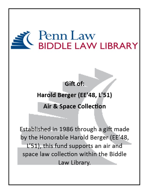 Berger Air & Space Law Bookplate
