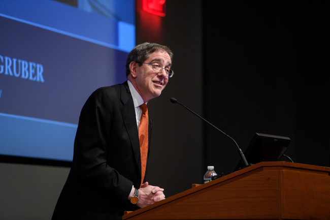 Christopher L. Eisgruber, President of Princeton University, delivers the inaugural Honorable Arl...