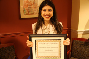 Kimbery Wexler was selected by the national Clinical Legal Education Association (CLEA) to receive the Outstanding Clinical Student Award for the 2012-13 academic year on May 13, 2013.