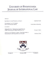 Journal of International Law Cover