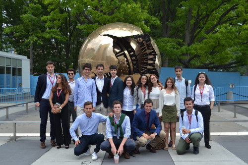 2016 Institute students from Spain at the United Nations