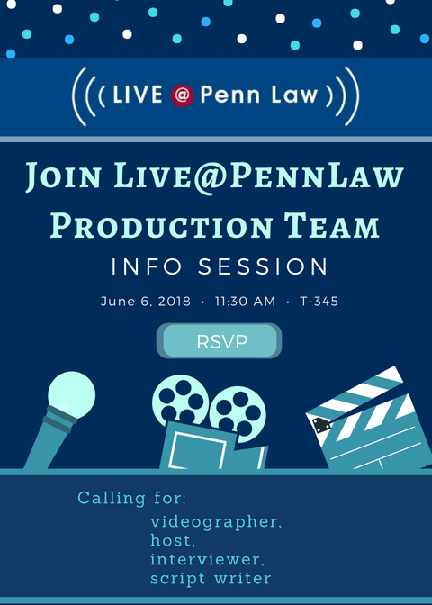 Live@PennLaw info session, 6/6, 11:30am