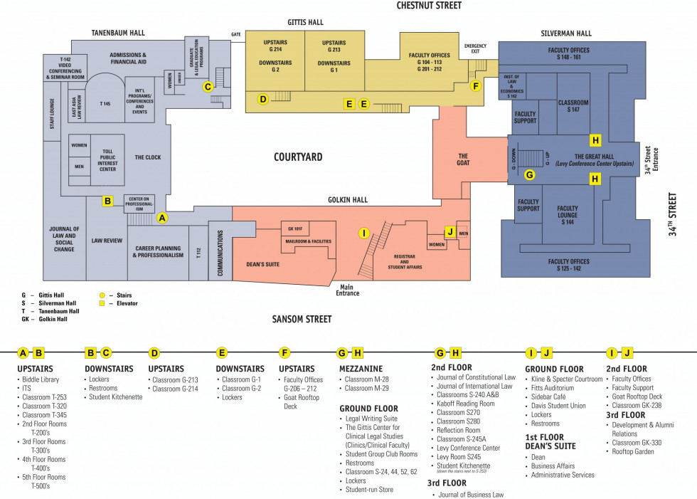 Map Of Law School Complex Penn Law