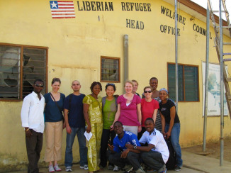 Members of the Transnational Legal Clinic assisted in gathering information from Liberian refugees in Ghana for The Liberian Truth and Reconciliation Commission. Prof. Sarah Paoletti and students traveled to Ghana to take statements about refugees' experiences in Ghana and war-torn Liberia.