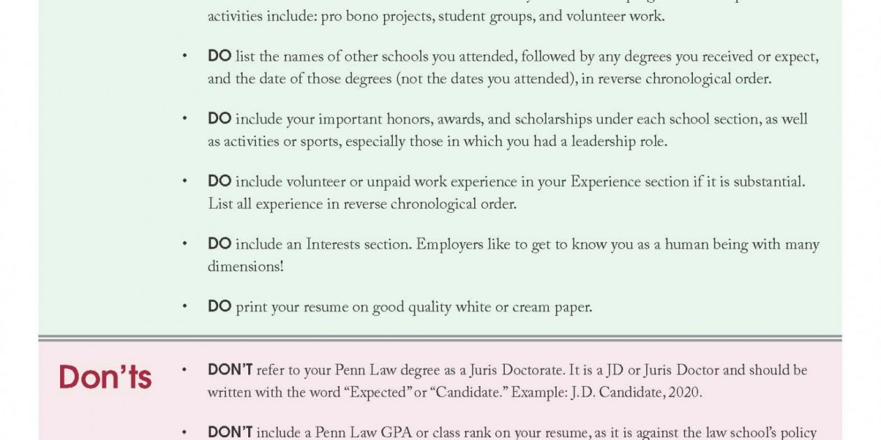 Resume Reviews Begins Today Penn Law