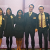 Student team at international moot competition