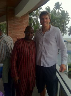 Dan Wilson with Tunde Fagbohunlu, his host in Nigeria and a partner at the law firm.