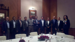 The Penn Law delegation following a lunch meeting at NLSIU.