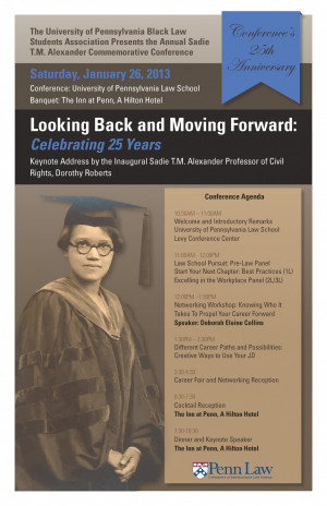 """Looking Back and Moving Forward: Celebrating 25 Years,"" honors the legacy of Dr. Sadie Tanner Mossell Alexander ED'18, GR'21, L'27"