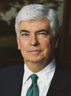 Christopher J. Dodd, the longtime Democratic Senator from Connecticut. Dodd announced his retirement from the Senate in 2010, ending a 36 year legislative career. He is now the head of the Motion Picture Association of America.