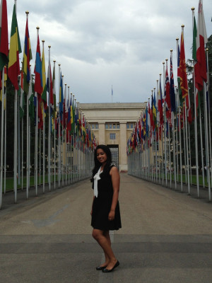 Pinky Mehta L'15  at the United Nations Office of the High Commissioner for Human Rights.