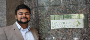 Rahman is spending his summer working at Beveridge & Diamond.