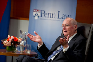 Justice Kennedy during an alumni Q&A at Penn Law. View more photos from this event on  Flickr.