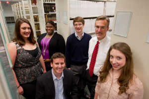 Prof. Cary Coglianese (second from right) and students relaunch RegBlog.org.
