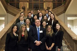 The Honorable Gustavo Arnavat, L'91 with members of Penn LALSA.