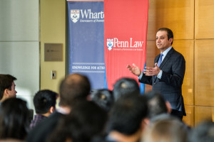 Bharara dedicated much of his address talking about his experience prosecuting businesses engaged in illegal activities.
