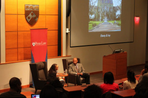 The event ended with a conversation between Dr. Wilder and Penn Law's Professor Dorothy Roberts.
