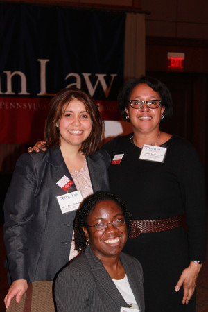 From right to left: Christina Swarns L'93, Britney Wilson L'15, & Executive Director of TPIC Arlene Finkelstein.