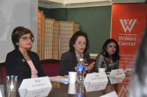 The day began with a Gender and Rule of Law forum at the Woodrow Wilson International Center for Scholars.