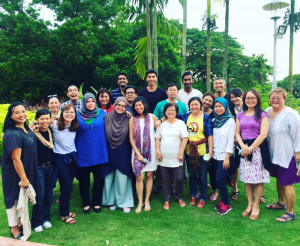 Emily Sutcliffe (sixth from left) trained human rights attorneys and activists in Malaysia as part of the ABA's Rule of Law Initiative.