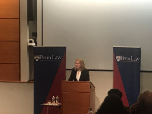 "Livni spoke about her vision on the future of the state of Israel, as well as her support for the ""two states for two peoples"" solution."