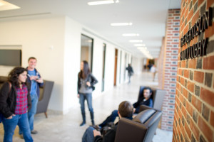 The Law School's fully connected campus encourages interaction and collaboration.