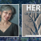 Elizabeth J. Coleman L'74, with the cover image of the poetry anthology HERE: Poems for the ...