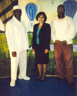The author posing with two members of Lifers Inc. at Graterford Prison