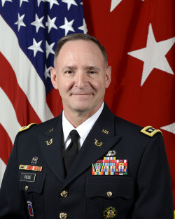U.S. Army Lieutenant General Charles N.Pede , poses for a command portrait in the Army portrait s...