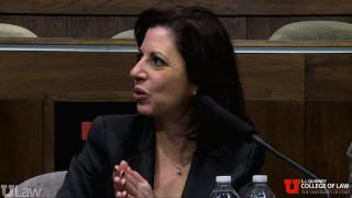 Claire Finkelstein, speaks at The Legal and Ethical Limits of Technological Warfare Roundtable Fe...