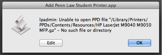 Student Printers: Mac • Penn Law