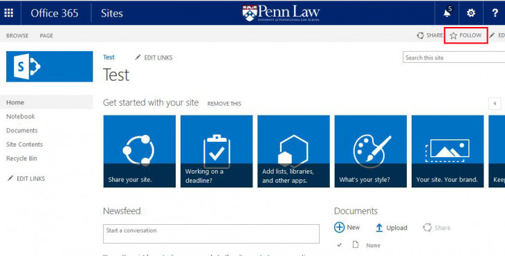 Office 365 Pilot Penn Law